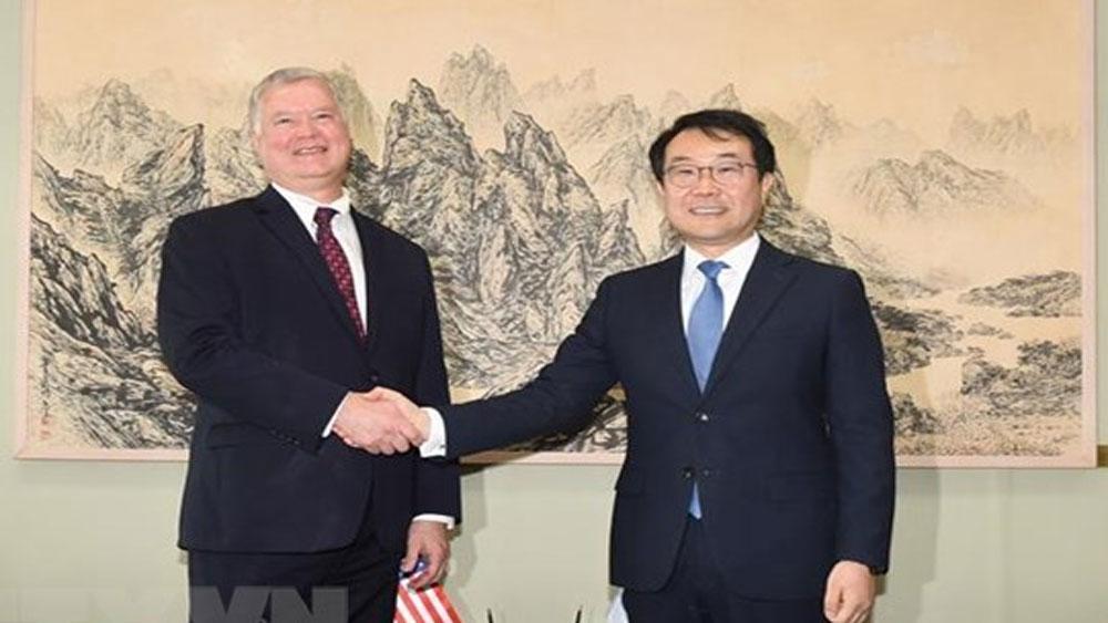 Đặc phái viên Mỹ, Hàn Quốc, thảo luận, nối lại, đàm phán hạt nhân với Triều Tiên, cuộc tập trận chung Hàn-Mỹ