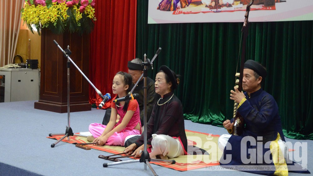 Bac Giang province, preserve and expand, cultural atmosphere, Quan Ho, Ca Tru, love duet singing, ceremonial singing, UNESCO, intangible cultural heritages of humanity