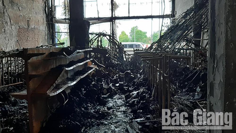 cháy, siêu thị 90K, trả lại mặt bằng, không tiếp tục thuê để kinh doanh, thiệt hại gần 6 tỷ đồng
