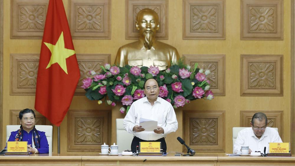 Thủ tướng Nguyễn Xuân Phúc, chủ trì, phiên họp, Tiểu ban Kinh tế - Xã hội