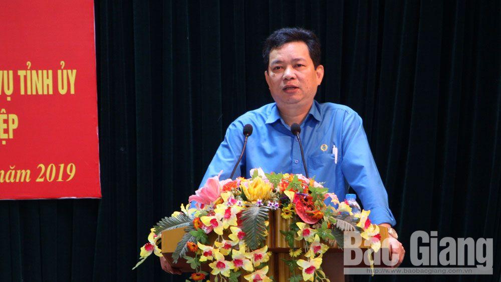 công đoàn, phát triển đoàn viên, liên đoàn lao động tỉnh Bắc Giang