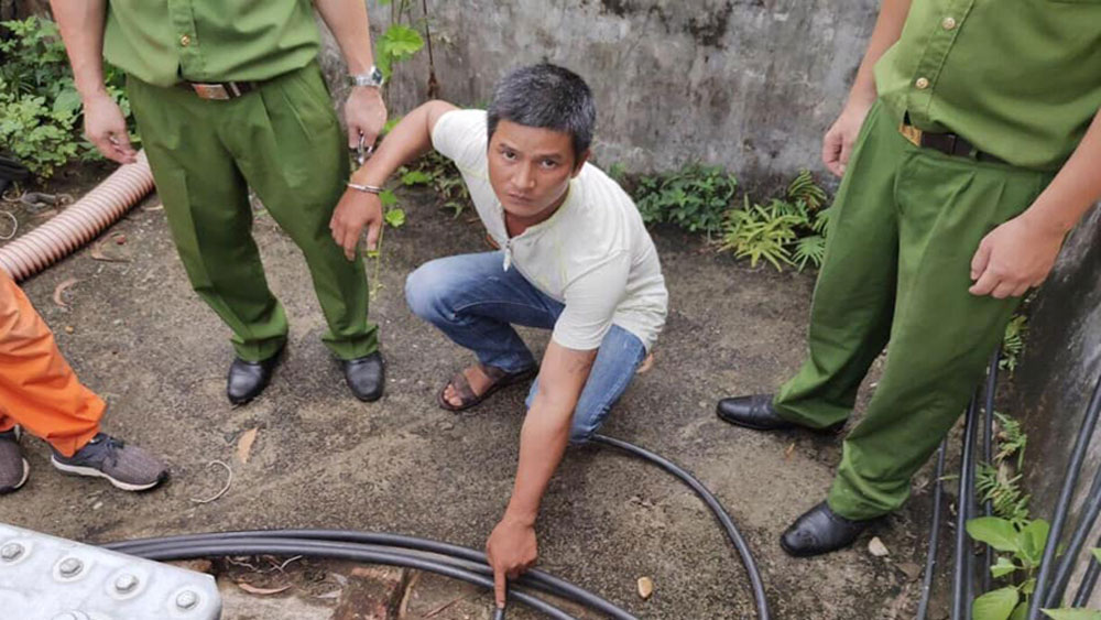 Giả nhân viên điện lực, 11 lần, đi cắt trộm dây cáp điện, Hà Hữu Dũng