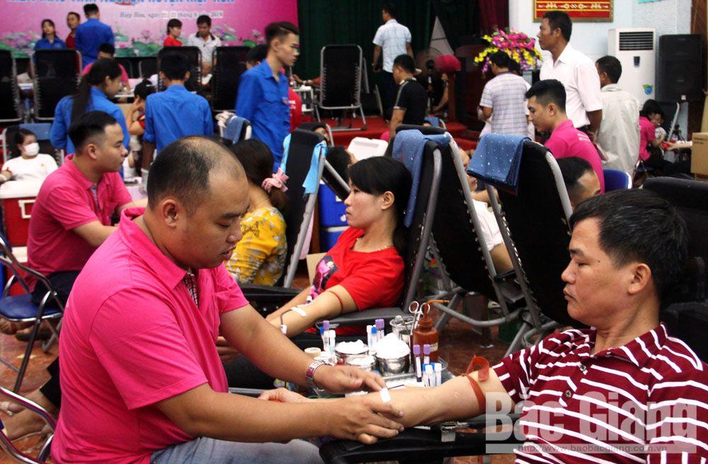 Hiệp Hòa, hiến máu cứu người, đơn vị máu an toàn