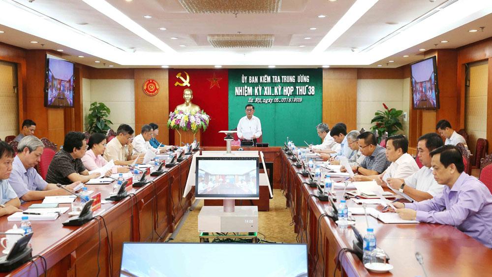 Xem xét, thi hành kỷ luật, Ban Thường vụ Đảng ủy Công an tỉnh Đồng Nai,  Kỳ họp 38 của Ủy ban Kiểm tra Trung ương