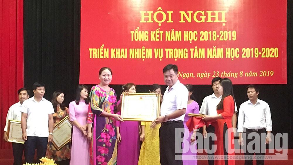 Lục Ngạn, triển khai, nhiệm vụ, năm học 2019 – 2020, Bắc Giang, giáo dục