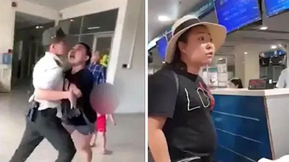 Cấm bay 1 năm, nữ công an, mạt sát nhân viên sân bay, bà Lê Thị Hiền
