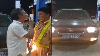 Tài xế ô tô biển xanh tát Cảnh sát giao thông không có bằng lái vẫn được nhờ mang xe đi sửa