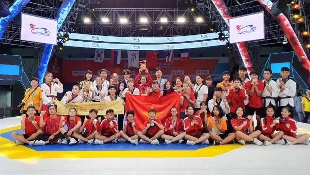 Vietnam, four gold medal, taekwondo world cup, Vietnamese martial artists,  two-day tournament,  regional tournament