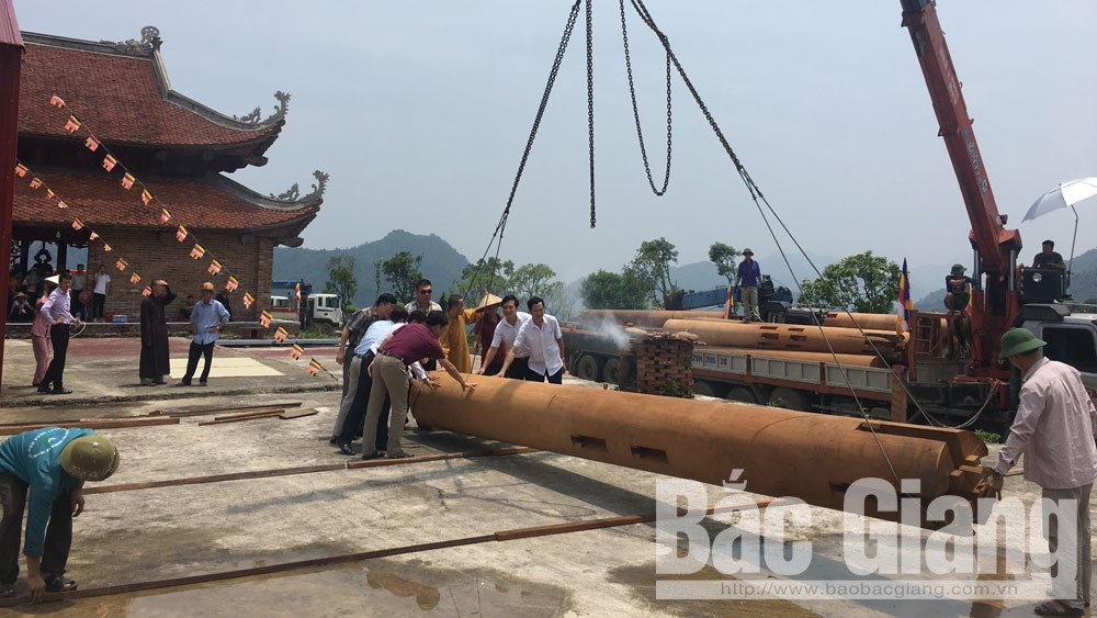 Tây Yên Tử, chùa Hạ, vận chuyền gỗ, thượng điện