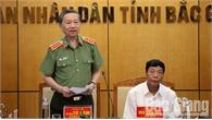 Đại tướng Tô Lâm, Bộ trưởng Bộ Công an làm việc tại Bắc Giang