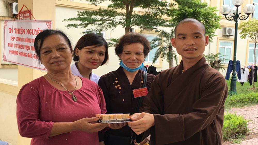 Ấm lòng, suất cơm, cháo miễn phí,  Bệnh viện Ung bướu và Nội tiết tỉnh Bắc Giang