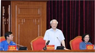 Tổng Bí thư, Chủ tịch nước Nguyễn Phú Trọng gặp mặt đảng viên trẻ tiêu biểu toàn quốc học tập và làm theo lời Bác