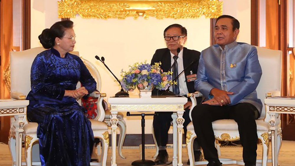Vietnam, top legislator, Thai Prime Minister, Nguyen Thi Kim Ngan, official visit, bilateral cooperation mechanisms, bilateral strategic partnership