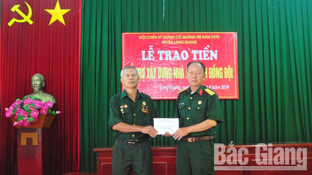 Hội chiến sĩ thành cổ quảng trị 1972, thành cổ Quảng Trị, trao nhà nghĩa tình đồng đội
