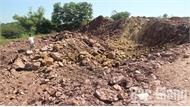 Đã chấm dứt việc khai thác đất trái phép tại xã Trường Giang (Lục Nam)