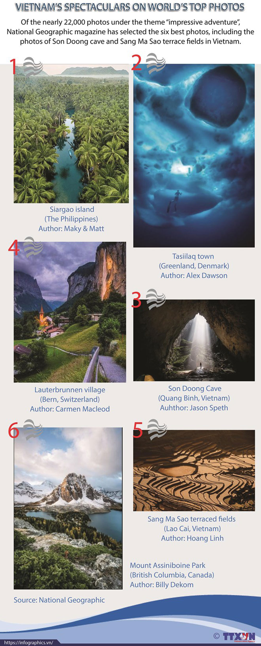 Vietnam's spectaculars, world's top photos, Son Doong Cave, Sang Ma Sao terrace fields