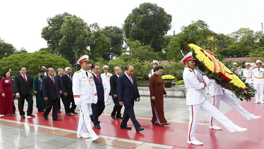 Lãnh đạo Đảng, Nhà nước, Lăng viếng Chủ tịch Hồ Chí Minh, kỷ niệm 74 năm Quốc khánh 2-9