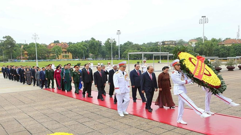 National leaders, President Ho Chi Minh, National Day, national independence, peace and progress, President's testament