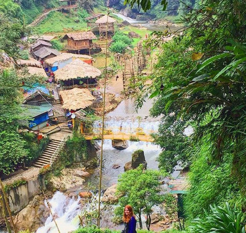 Cat Cat village, Sapa, Lao Cai province, most beautiful village, large number of tourists,  pristine and tranquil beauty, terraced fields