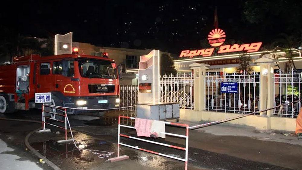 Vụ cháy, Công ty Cổ phần Bóng đèn phích nước Rạng Đông, Kết quả quan trắc không khí, ngưỡng an toàn