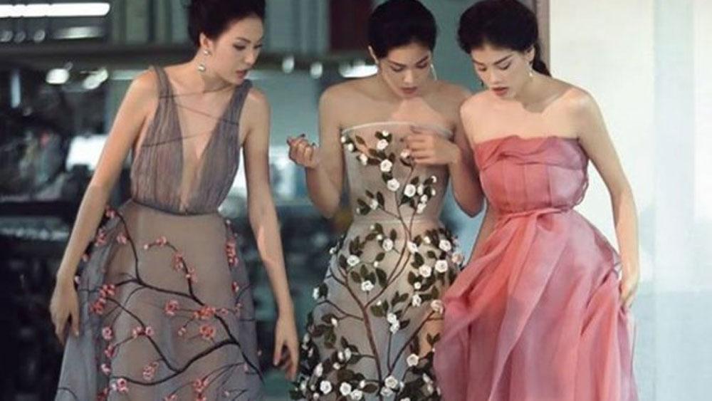 Vietnamese designer, London Fashion Week, Popular designer Tran Hung, spring-summer night party dress, 3D floral patterns