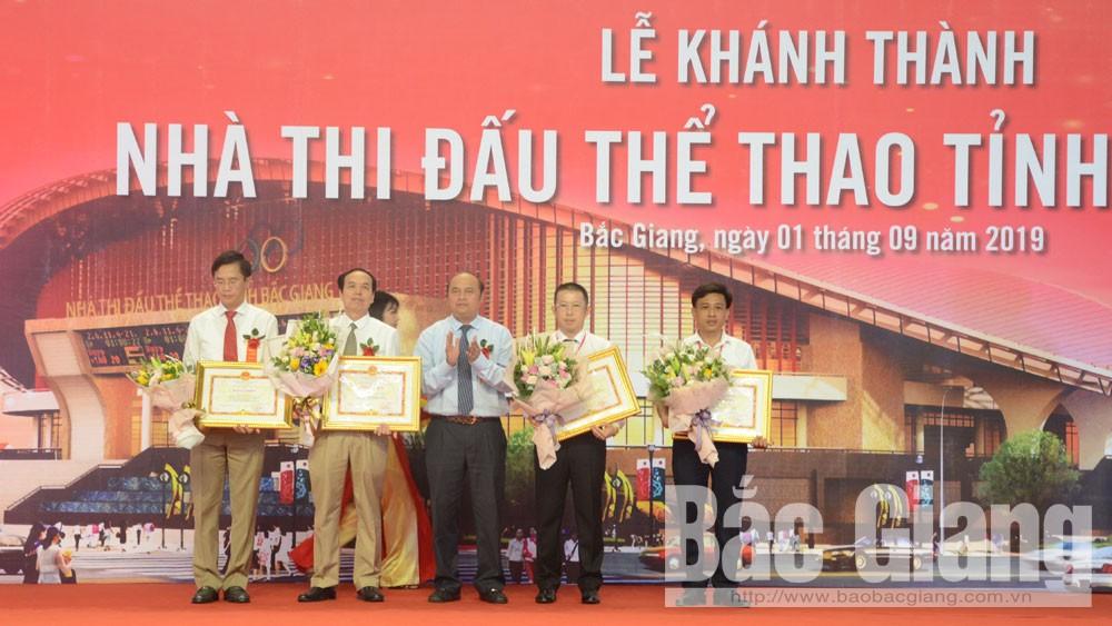 Bắc Giang, khánh thành, nhà thi đấu, thể thao, TP Bắc Giang