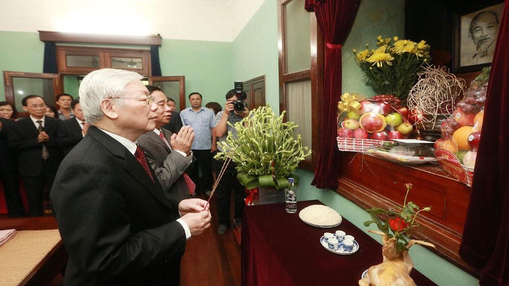 Tổng Bí thư, Chủ tịch nước Nguyễn Phú Trọng, dâng hương tưởng niệm, Chủ tịch Hồ Chí Minh