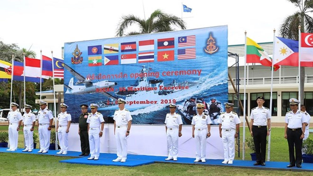 Vietnam, ASEAN-US, naval exercise, Thailand, warships and aircraft, littoral combat ship, Gulf of Thailand, multilateral drill
