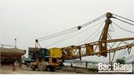 Xã Quang Châu yêu cầu doanh nghiệp xây dựng trạm trộn bê tông trái phép dừng hoạt động