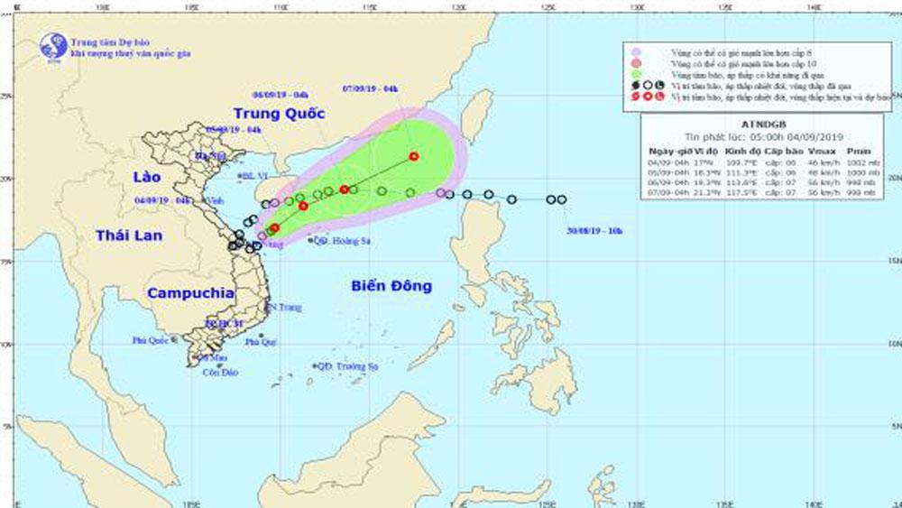 Áp thấp nhiệt đới, cách đất liền, Quảng Trị, Quảng Ngãi, 180km, giật cấp 8