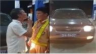 Tài xế ô tô biển xanh say rượu chửi bới rồi tát Cảnh sát giao thông bị phạt 2,5 triệu đồng