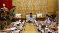 Bí thư Tỉnh ủy Bắc Giang Bùi Văn Hải làm việc với BTV Đảng ủy Công an tỉnh