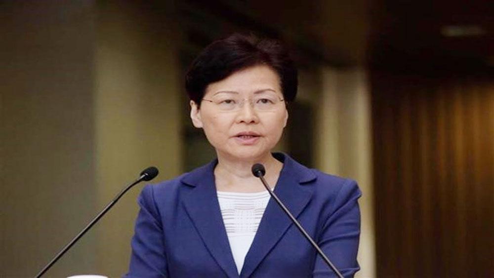 Trưởng Đặc khu Hành chính Hong Kong (Trung Quốc), tuyên bố, rút lại dự luật dẫn độ, Lâm Trịnh Nguyệt Nga, Carrie Lam