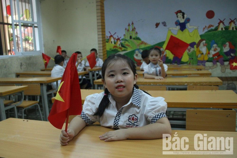 Bắc Giang, khai giảng, năm học mới, đón em vào lớp 1