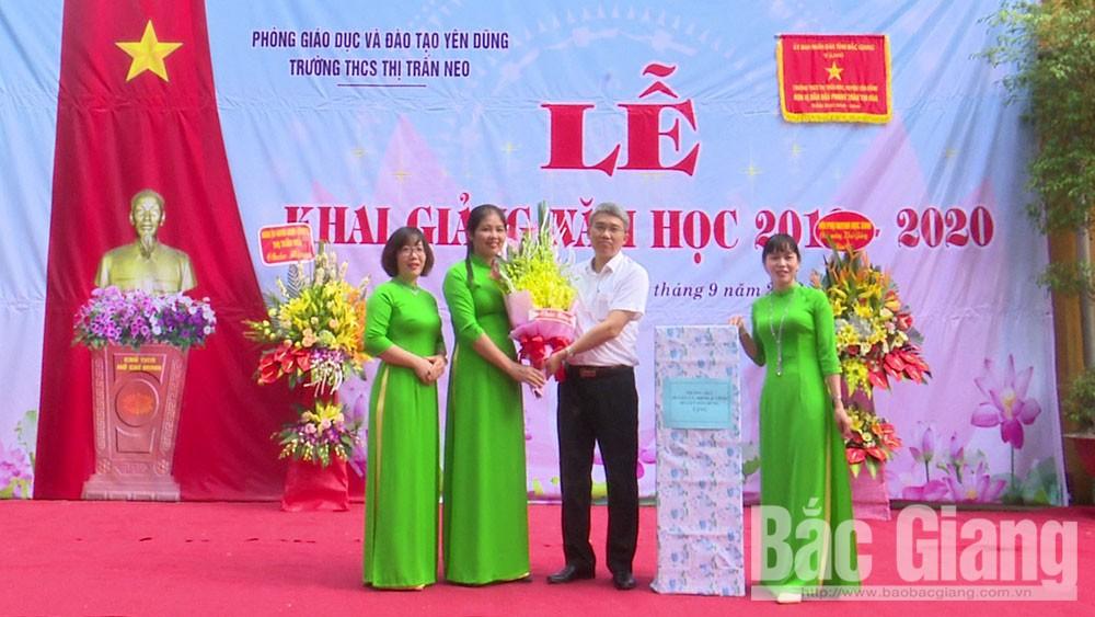 Yên Dũng, Bắc Giang, khai giảng năm học mới, học sinh, giáo viên.
