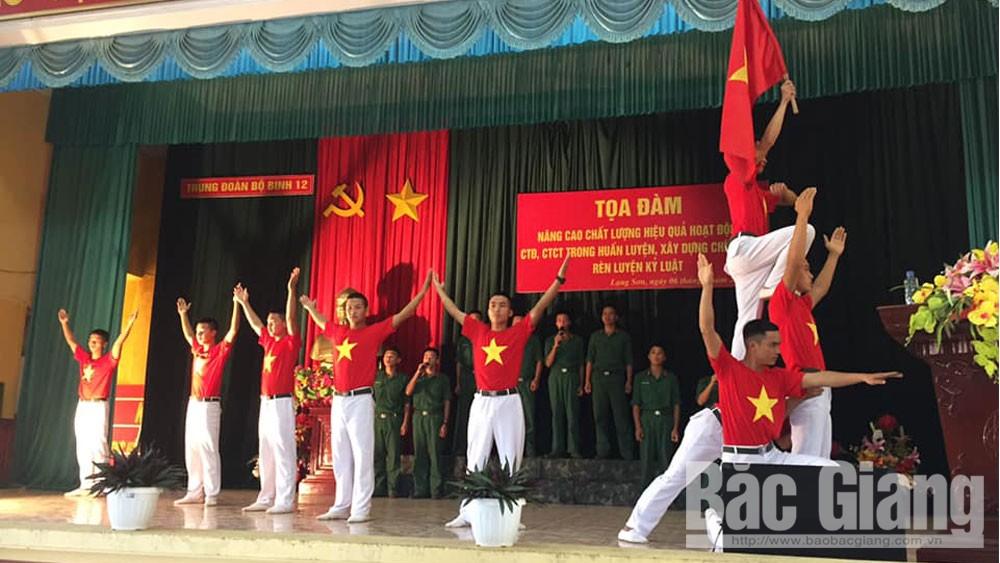 Trung đoàn 12, Sư đoàn 3, tọa đàm,  hoạt động công tác đảng, công tác chính trị