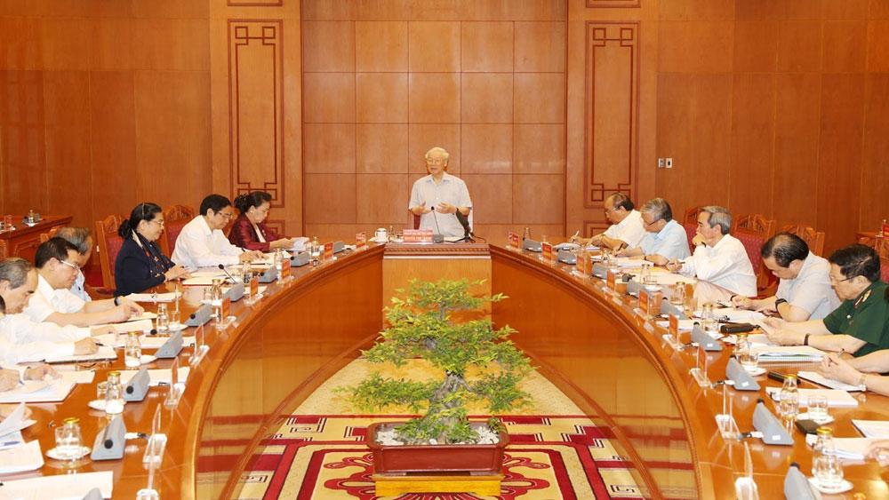 Tổng Bí thư, Chủ tịch nước Nguyễn Phú Trọng, chủ trì, Cuộc họp Tiểu ban Văn kiện Đại hội XIII của Đảng