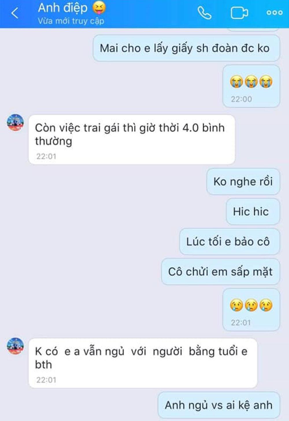Gạ tình qua tin nhắn, Phó Bí thư Đoàn xã Nam Dương gạ tình qua tin nhắn
