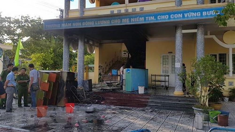 Cháy tại trường mầm non, kịp thời, di chuyển, học sinh, nơi an toàn, Trường Mầm non phường Đông Lương