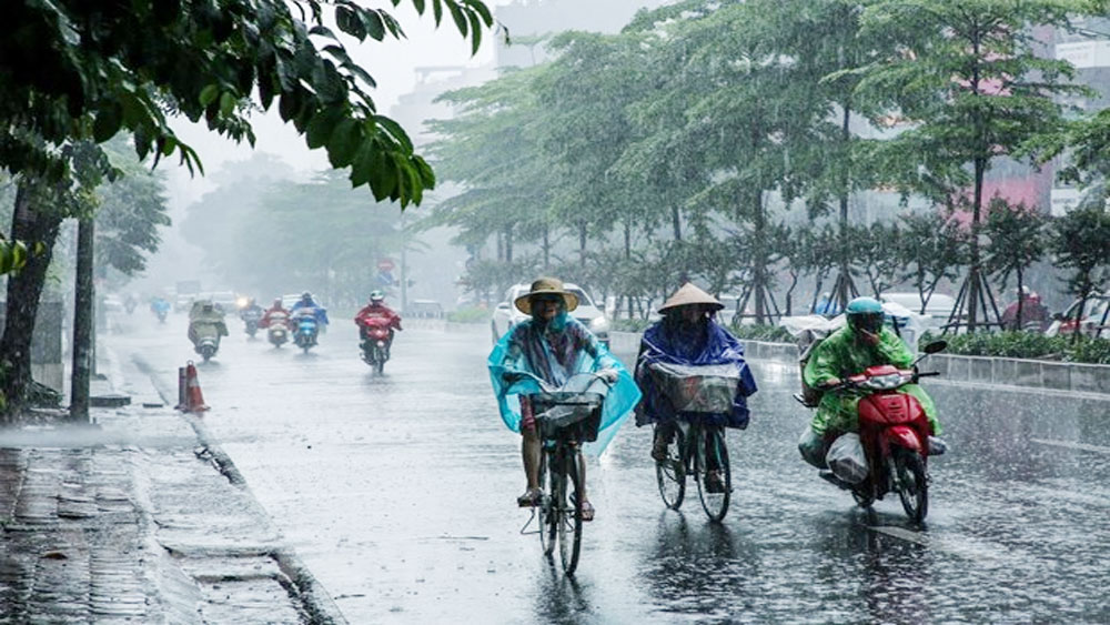 Bắc Bộ, mưa dông, cảnh báo lốc, sét, mưa đá, gió giật mạnh