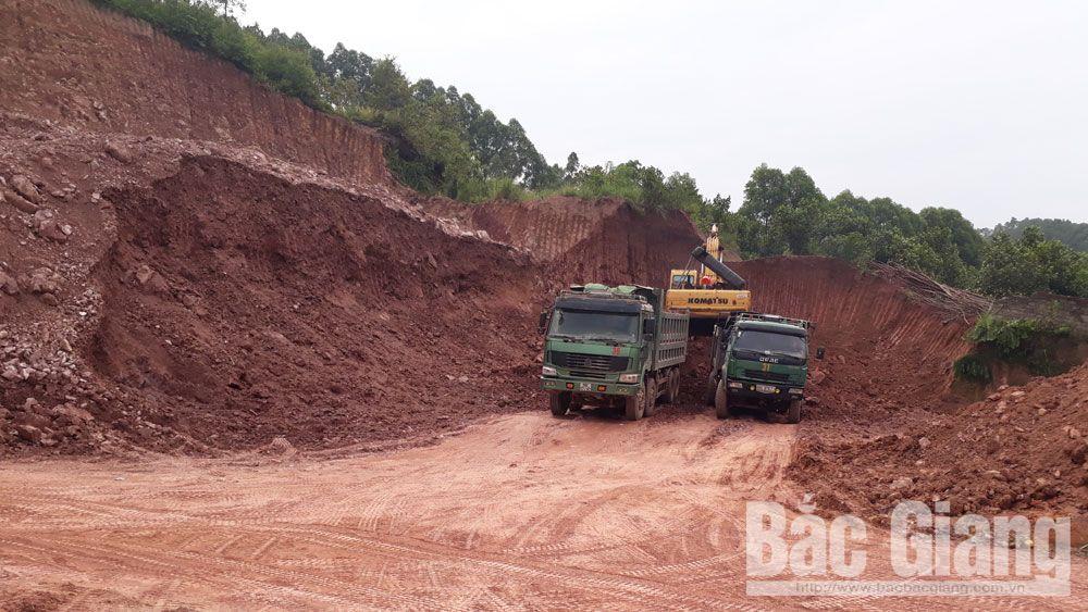 Khai thác đất trái phép, Yên Dũng, thất thoát tài nguyên, xã Tiền Phong
