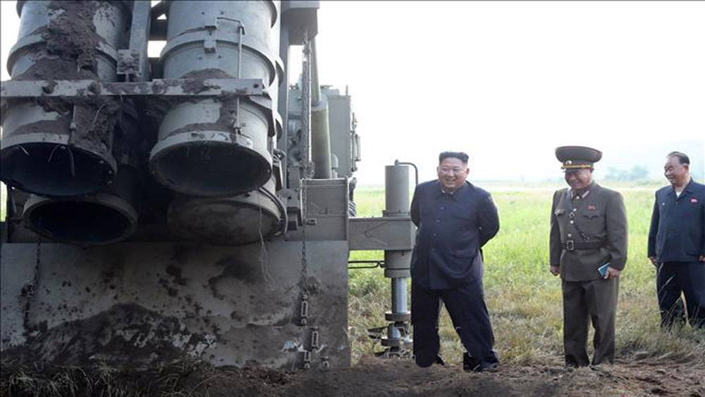 Triều Tiên xác nhận thử hệ thống phóng đa nòng siêu lớn