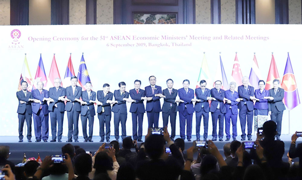 ASEAN, China, trade partnership, Economic ministers, bilateral trade, free trade agreement, international trade value, partner countries