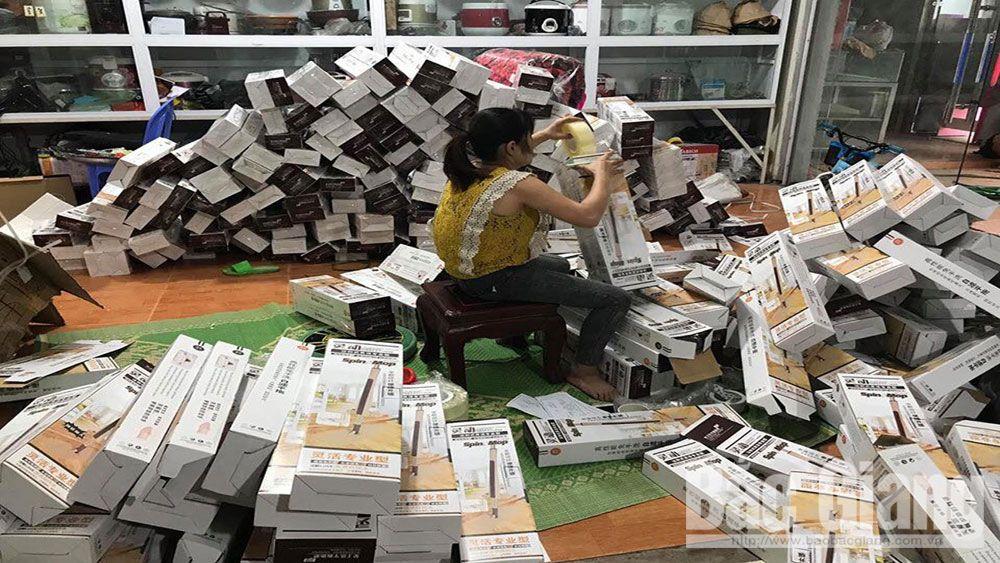 Bán hàng online, bán hàng trenemangj, hàng giả, hàng nhái, Bắc Giang