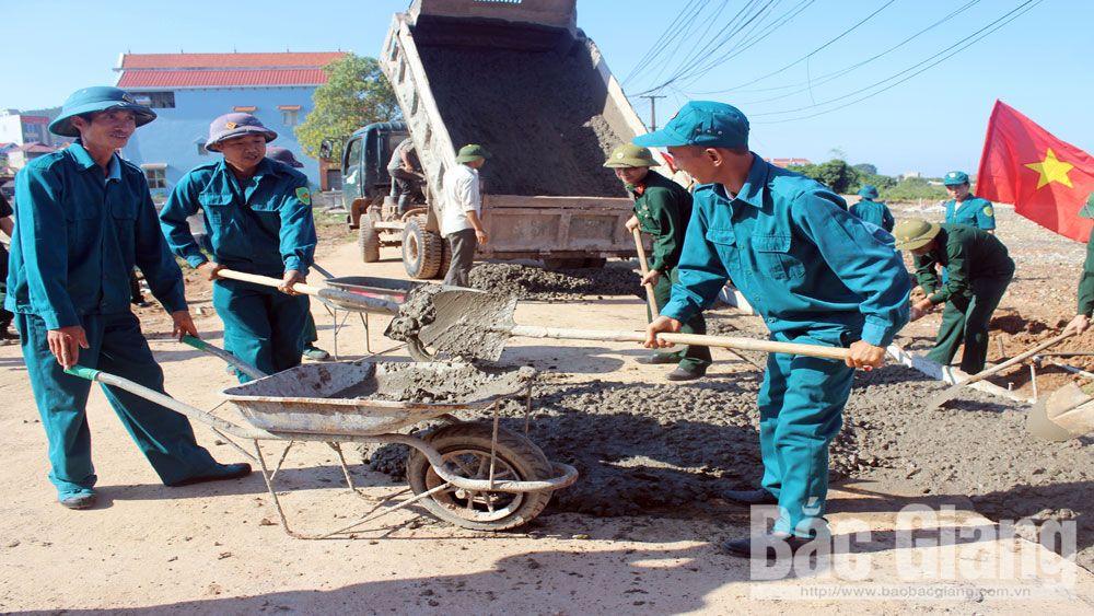 Quân đội giúp dân  xây dựng nông thôn mới