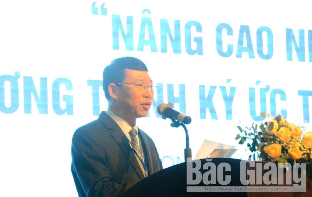 Phó Chủ tịch UBND tỉnh Bắc Giang Lê Ánh Dương phát biểu tại hội thảo.