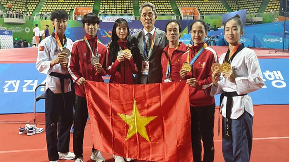 Vietnam, 18 medals, international martial arts contest, Chungju World Martial Arts,  Vietnamese taekwondo team, Vietnamese pencat silat athletes