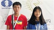 Hai kỳ thủ Bắc Giang tranh tài tại giải cờ vua trẻ nhanh và chớp nhoáng thế giới
