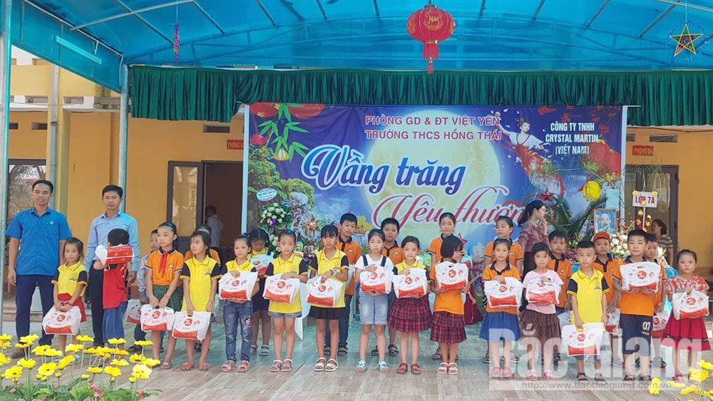 Việt yên, trung thu, tiểu học quang châu, học sinh khó khăn