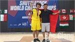 Nguyen Thi Dao 4 times crown champion in world shuttlecock kicking